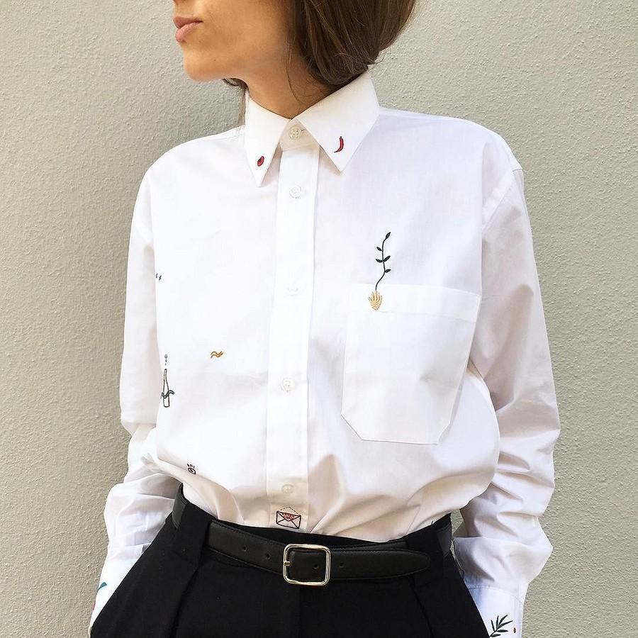 Простая вышивка, преображающая одежду: рукодельный instagram недели