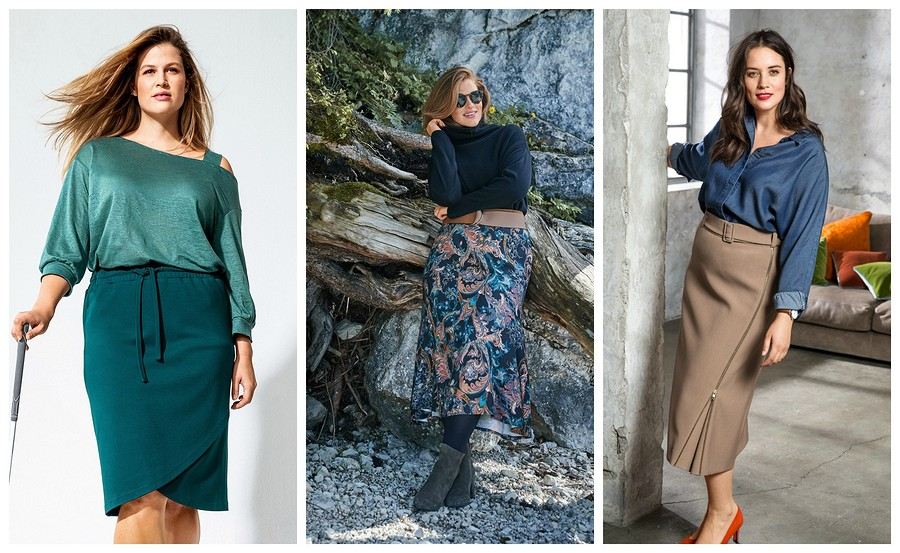 Осенние юбки для«плюсиков»: 20 актуальных выкроек