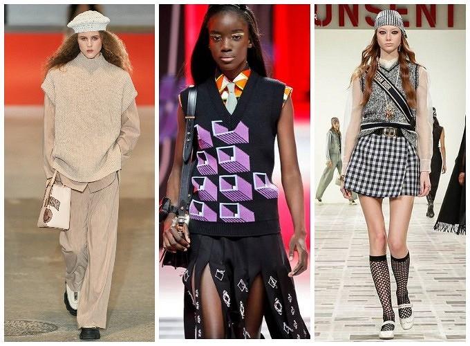Возвращение вязаного жилета: счем носить самую модную трикотажную вещь сезона