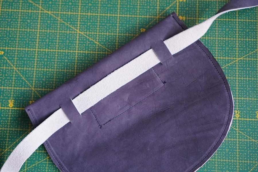Кожаная сумка напояс: мастер-класс