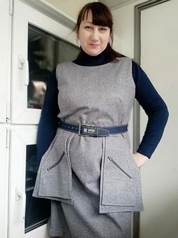 Работа с названием Сарафан с карманами как у Макс-Мара