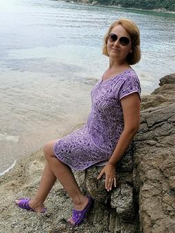 Работа с названием Платье-халат без выкройки