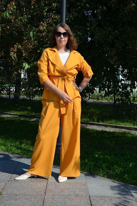 Льняной костюм «Охра» (брюки)