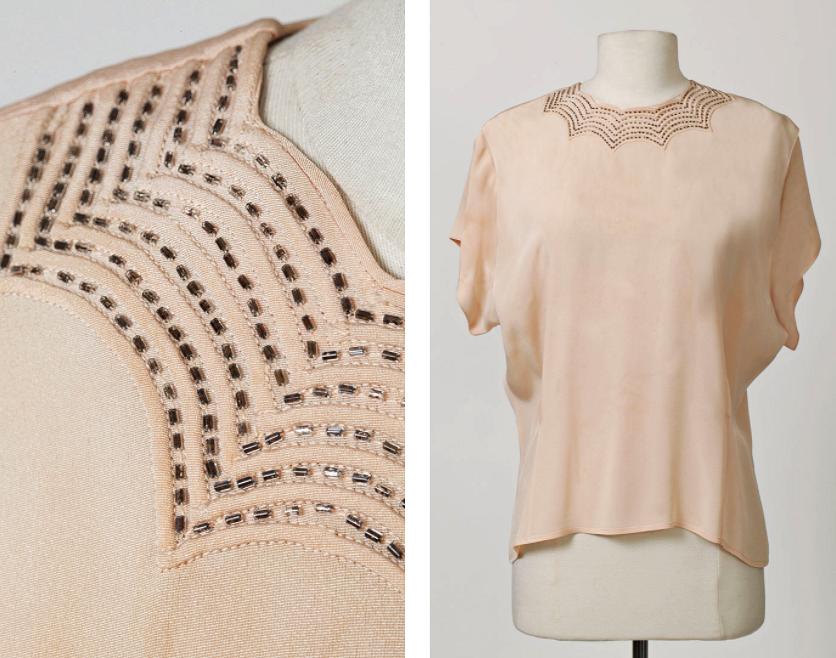 Как декорировать блузку спомощью защипов сшнуром