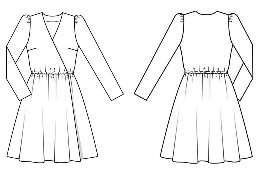 Выкройка месяца: изящное платье сэффектом запаха нараннюю осень
