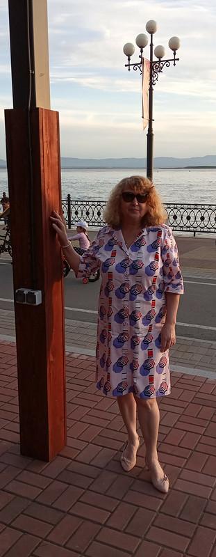 Последнее летнее платье-рубашка