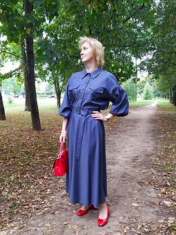 Работа с названием Блузка и юбка: костюм