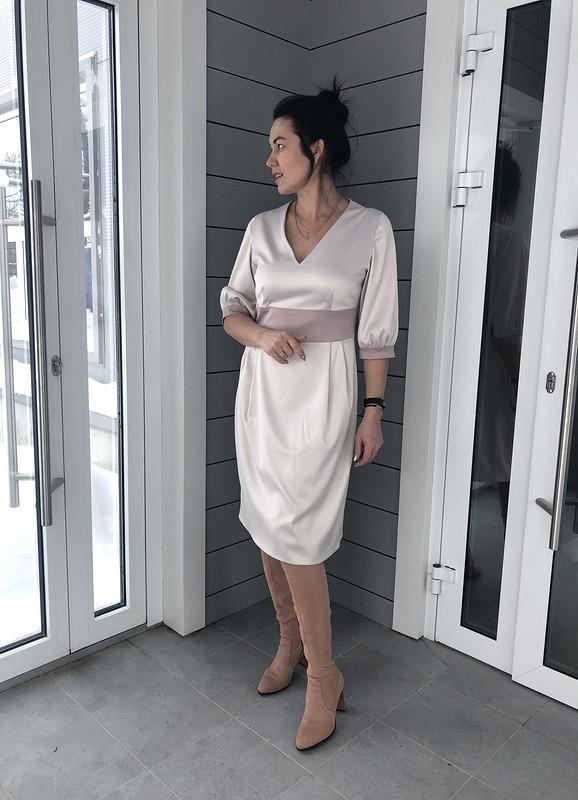 Платье сотрезной юбкой ипоясом от ir_er