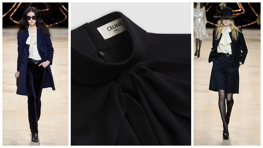 Блузка сбантом: 18 роскошных выкроек встиле Céline