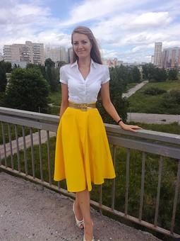 Работа с названием Летняя юбка