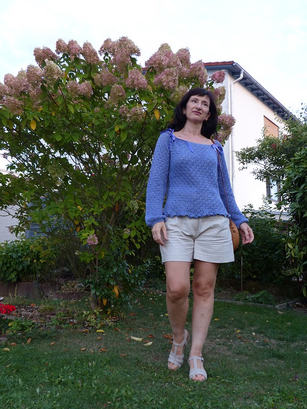 Голубая дымка - пуловер от Lanawind
