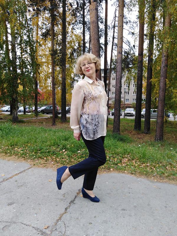 Блузка-рубашка «Вера, Надежда, Любовь» от Любовь Петровна