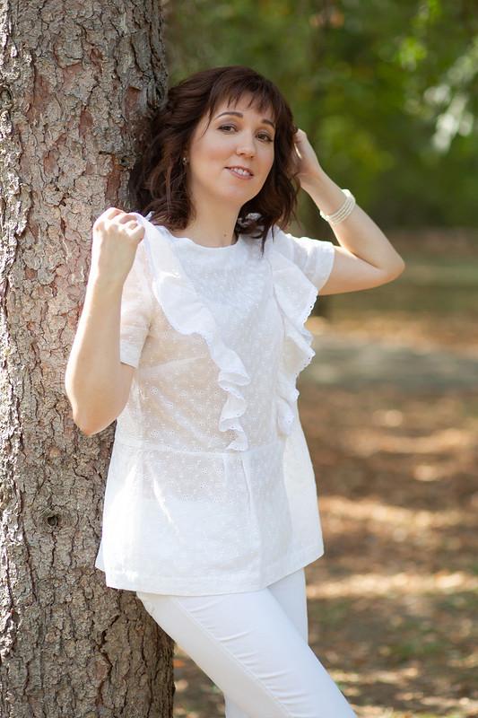 Летняя блузка соборками
