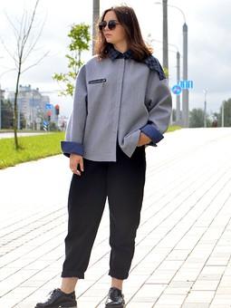 Работа с названием Двусторонняя рубашка-пальто