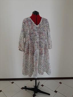 Работа с названием Платье с воланами