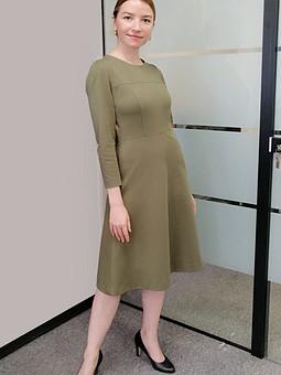 Работа с названием Платье из джерси