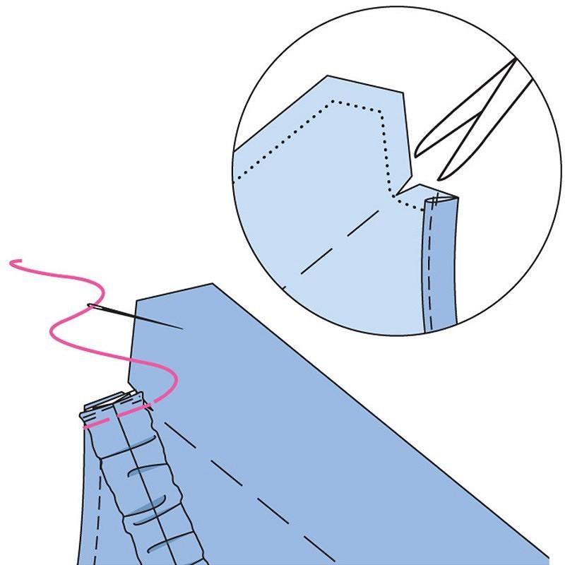 Как выполнить эластичные бретели