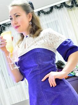 Работа с названием Платье по мотивам Ульяны Сергеенко