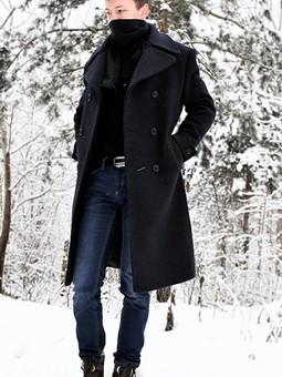 Работа с названием Классическое утепленное пальто
