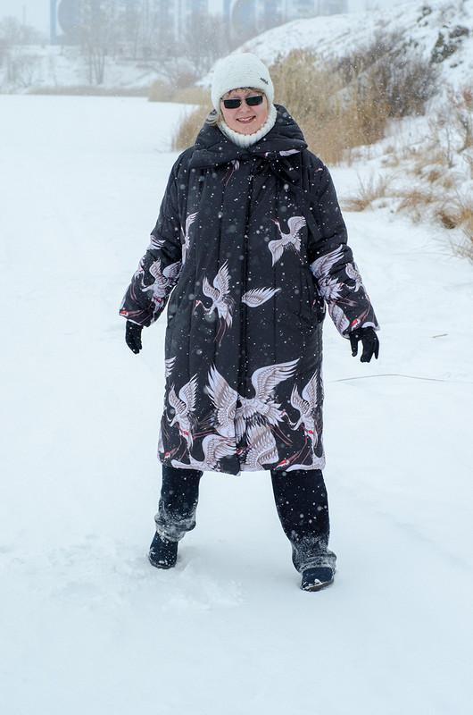 Пальто сжуравлями