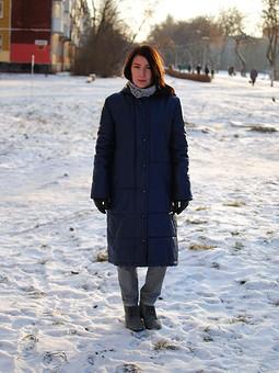 Работа с названием Куртка-пуховик на холодную зиму