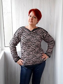 Работа с названием В фокусе вязаный свитер