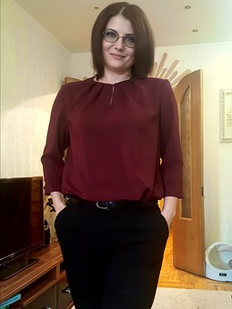 Моя первая полноценная блузка