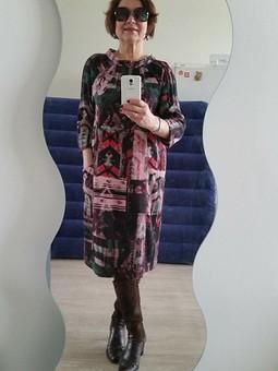 Работа с названием Комфортное платье-баллон