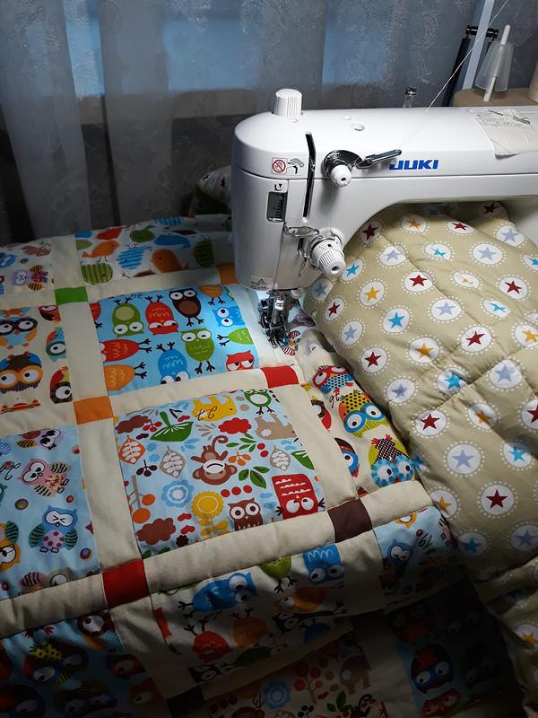 Лоскутное детское одеяло от Мамаёнок