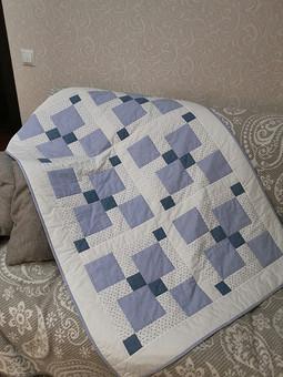 Работа с названием Детское одеяло-пэчворк