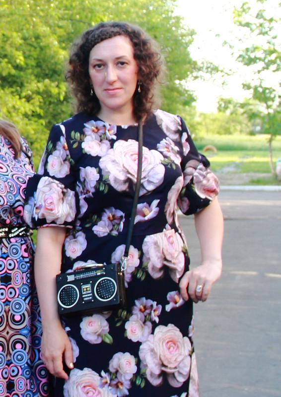 Цветочное платье ибабочка от Мария_ИТД