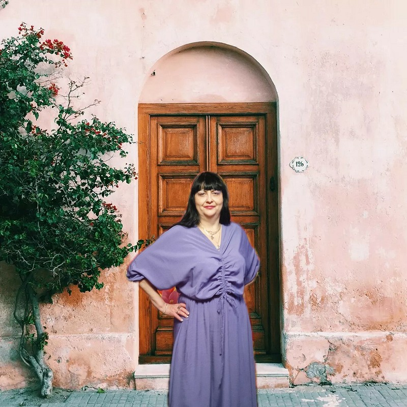 Сиреневое платье от  Lionella