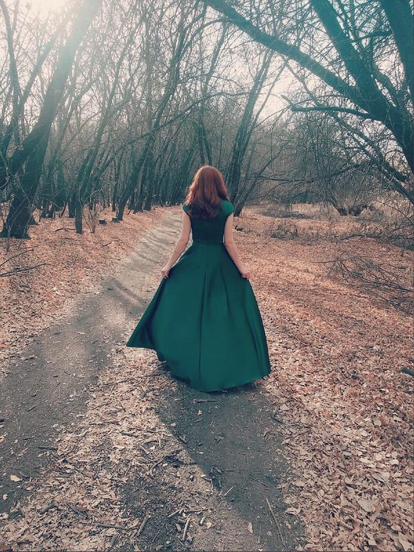 Платье «Изумрудная осень» от *Мокона*