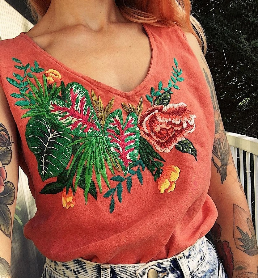 Вышивка, дающая одежде новую жизнь: рукодельный instagram недели