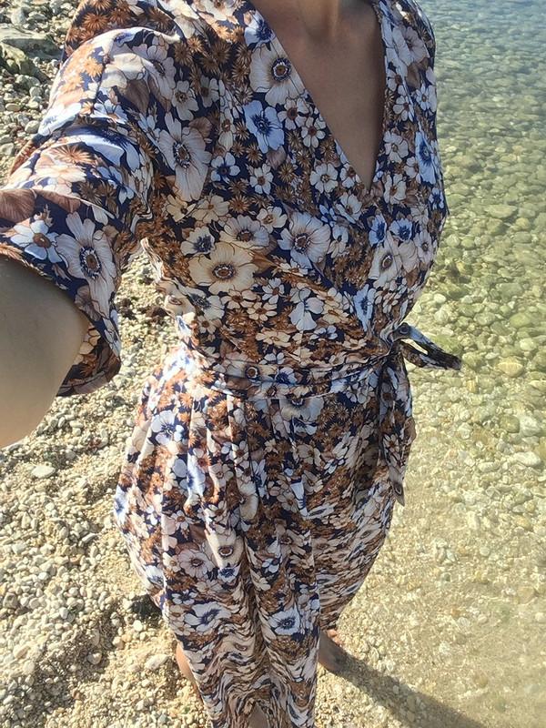 Платье-халат назапах