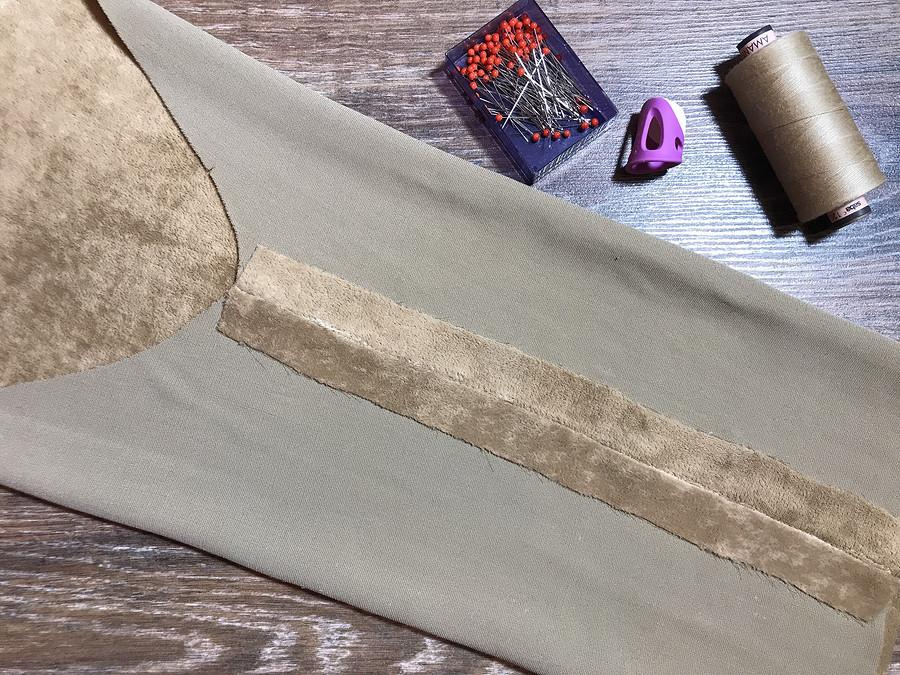Обработка припусков швов визделии избархата: альтернативный способ