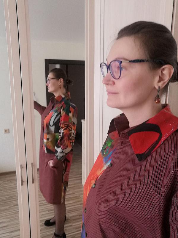 Комбинированное платье «Тигры» от Ezhevika