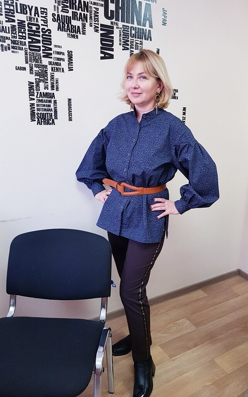 Блуза сширокими рукавами от Maritravells