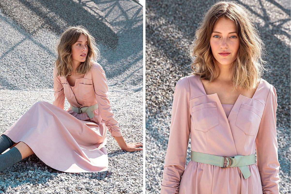 Платье миди сдлинным рукавом иэффектным лифом: новый курс вАкадемии Burda