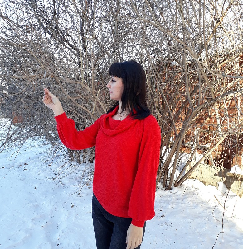 Красный пуловер от Alena_Eschenko