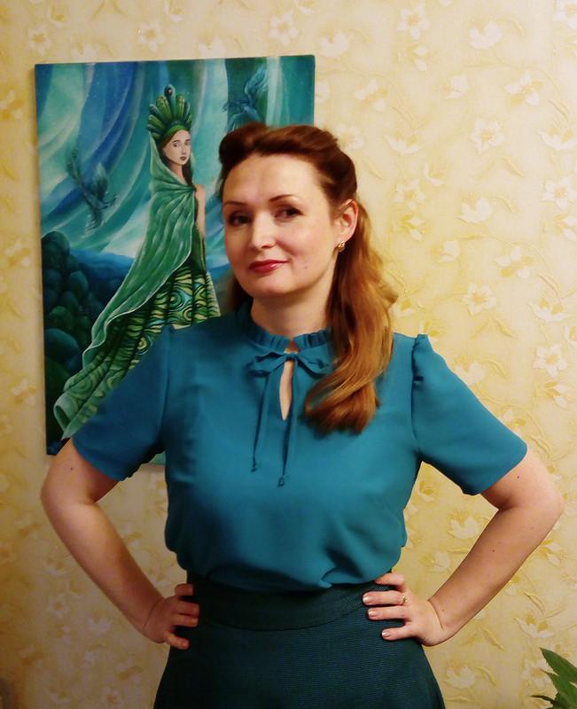 Блузка повыкройке платья от Вианн Роше