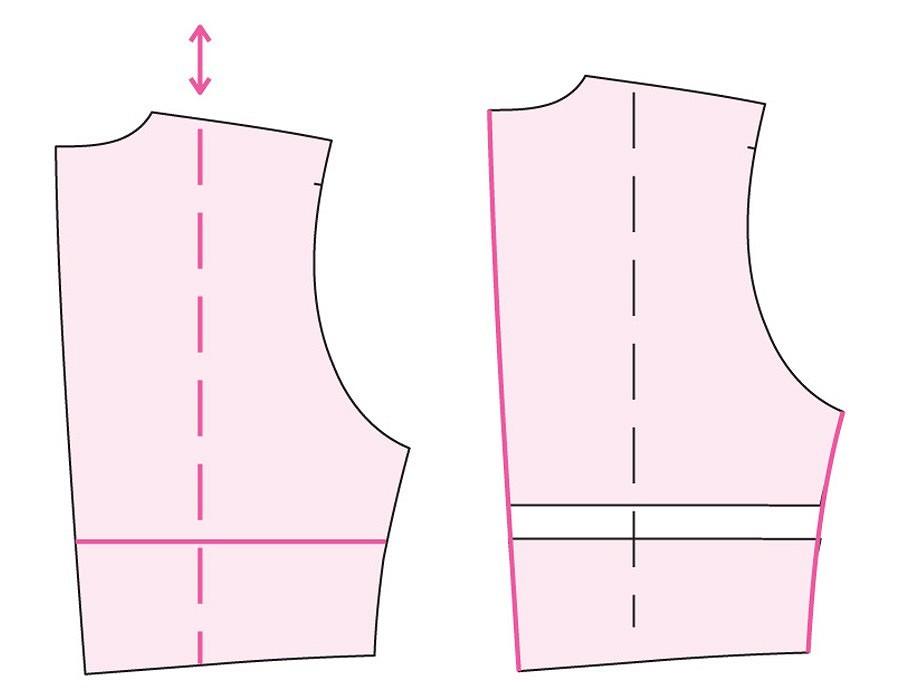 Корректировка выкройки комбинезона подиндивидуальные размеры