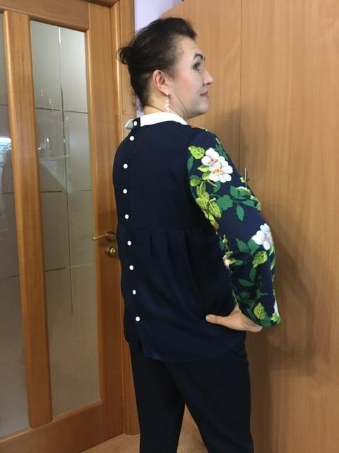 Блуза синтересной спинкой от Panilena