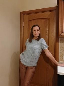 Работа с названием Блузка по выкройке платья-кафтана