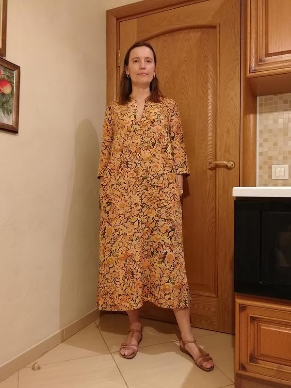 Платье-кафтан изшелка тиримэн длякимоно от tgovorukhina