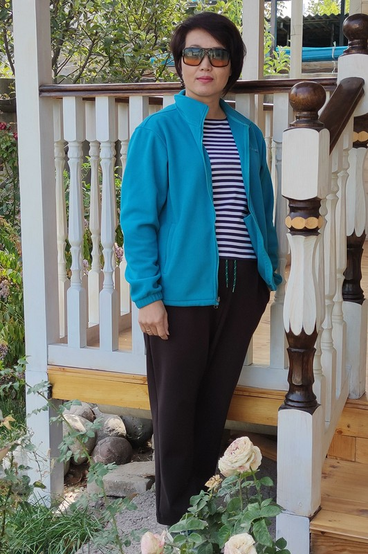 Трикотажный калейдоскоп: блузон, брюки, футболка, майка от @vera_ch.k