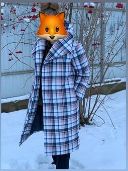 Работа с названием Стеганное пальто