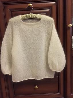 Работа с названием Пуловер из кидмохера