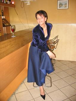 Работа с названием Вечерний костюм6 жакет и юбка