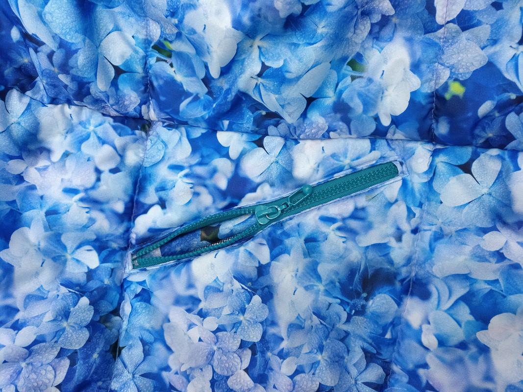 Пуховик «Голубая гортензия»